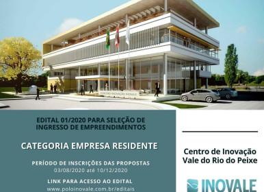 Centro de Inovação Vale do Rio do Peixe INOVALE, abre as inscrições para seleção de empreendimentos