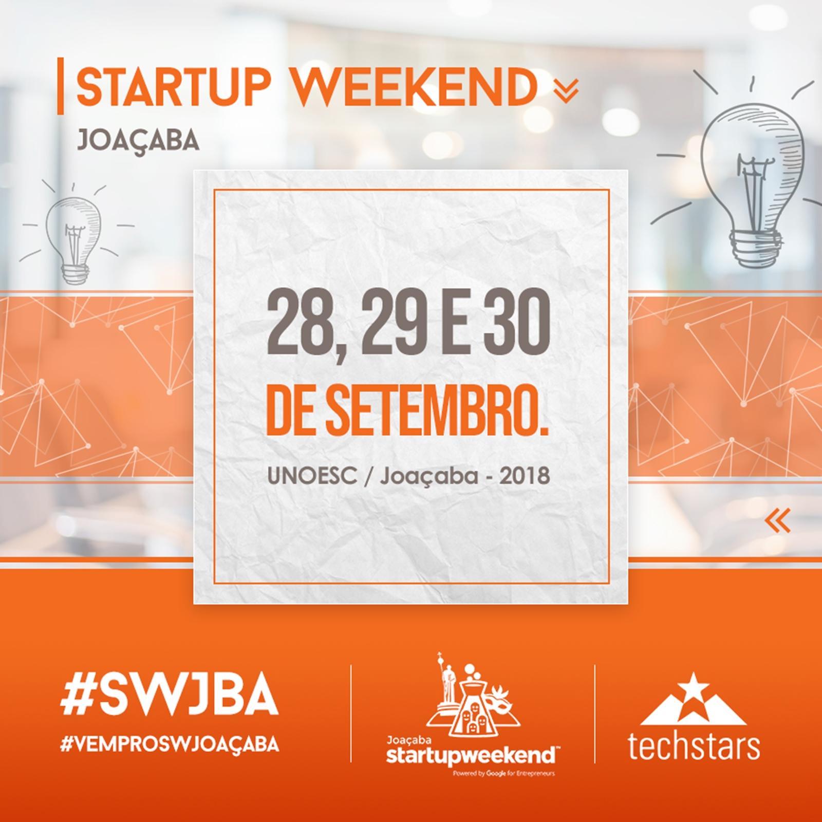 Prazo de inscrições para o Startup Weekend encerram nesta sexta-feira (21)
