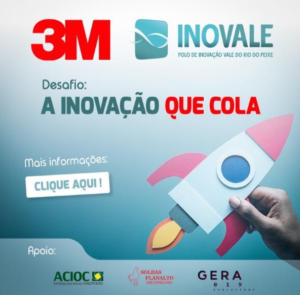 3M e Inovale apresentam Desafio: A Inovação que cola
