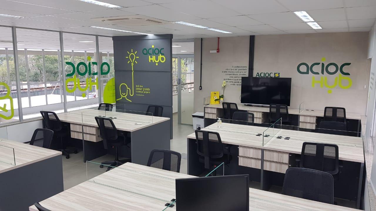 ACIOC inaugura espaço de coworking no Centro Inovale